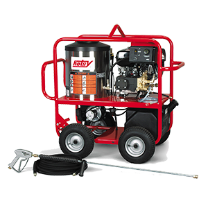 hotsy oil heated gas powered direct drive