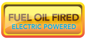 fuel oil heated, electric powered button
