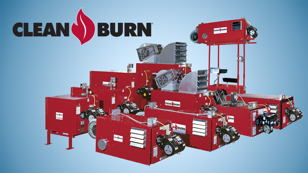 clean burn waste oil heaters landing page slide