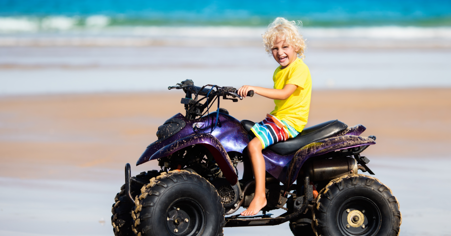 Riding on an ATV is a fun adventure for the whole family