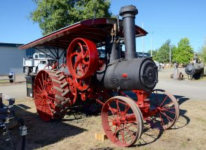 Steam tractor built by Nichols & Shepard Co. on display at Powerland Heritage Park.