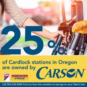 Carson owns 24% of Oregon cardlocks