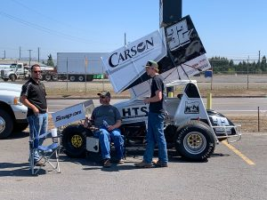 Oregon sprint car racer, Daysen Thomas, shares his love of the sport with Carson guests.
