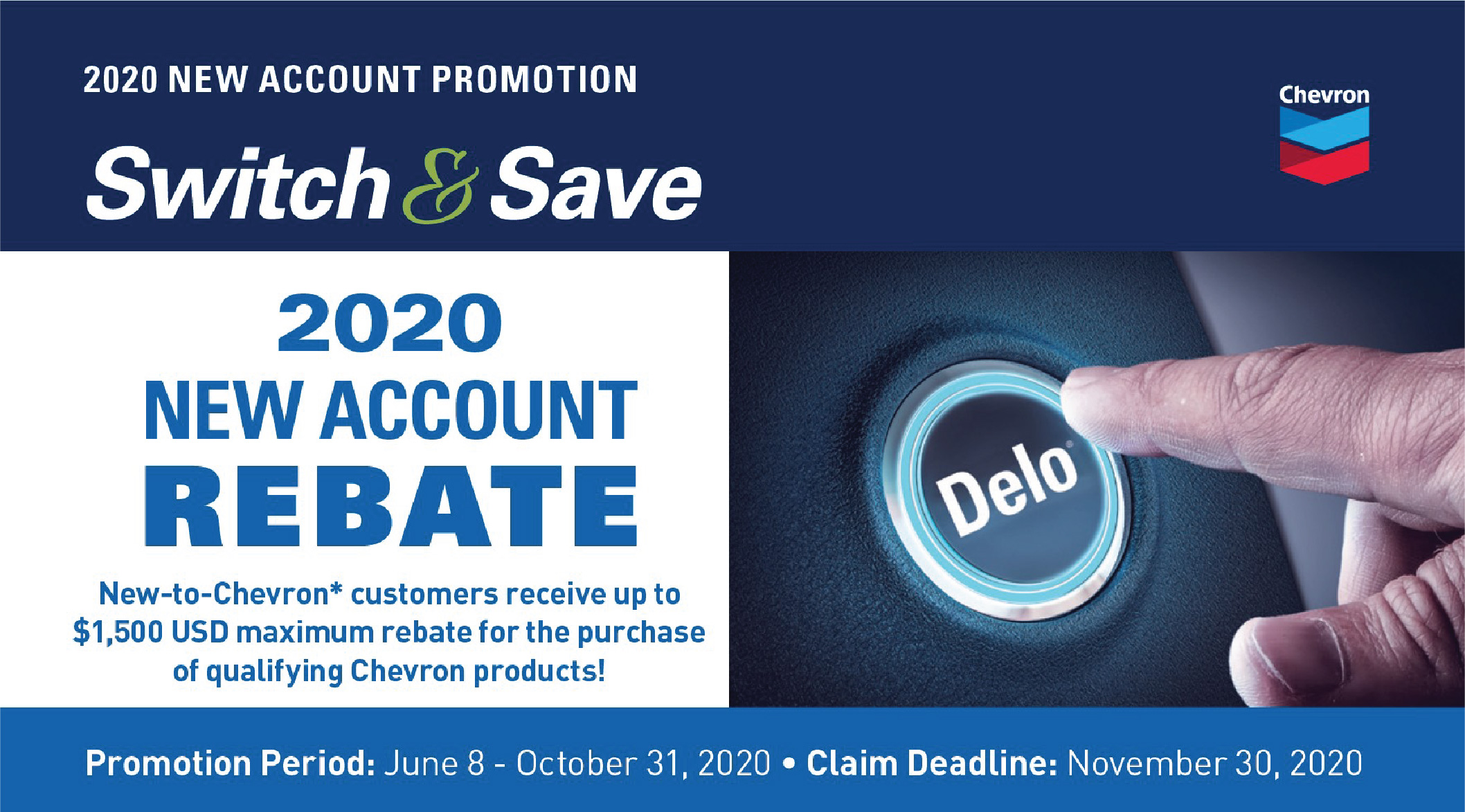 Delo Switch and Save Rebate