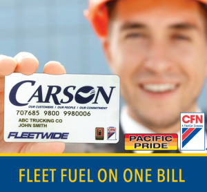 Both CFN & Pacific Pride Cards on the same fuel bill.