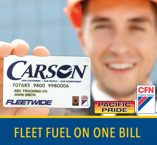 Both CFN & Pacific Pride Cards on the same bill & fleet management software